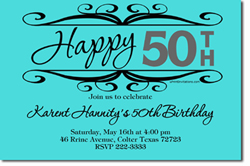 Design online, download jpg immediately DIY marquee birthday party invitations