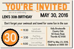 Design online, download jpg immediately DIY marquee birthday party invitations