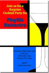 Design online, download jpg immediately DIY martini party birthday invitations