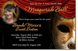 Design online, download jpg immediately DIY masquerade ball party birthday Invitations