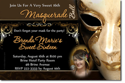 Design online, download jpg immediately DIY masquerade party birthday Invitations