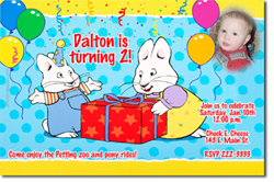Design online, download jpg immediately DIY max and ruby party birthday Invitations