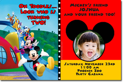 Design online, download jpg immediately DIY mickey mouse clubhouse party birthday Invitations