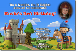 Design online, download jpg immediately DIY mike the knight birthday party Invitations
