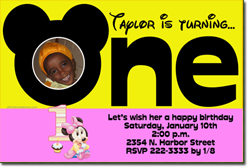 Design online, download jpg immediately DIY mickey mouse party birthday Invitations