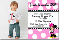 Design online, download jpg immediately DIY minnie mouse party birthday Invitations
