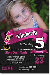 Design online, download jpg immediately DIY minnie mouse digital jpg party birthday Invitations