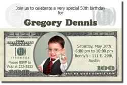 Design online, download jpg immediately DIY money birthday party Invitations