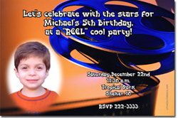 Design online, download jpg immediately DIY movie reel birthday party Invitations