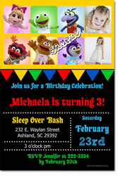 Design online, download jpg immediately DIY muppet babies party birthday Invitations