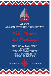Design online, download jpg immediately DIY nautical boat birthday party Invitations