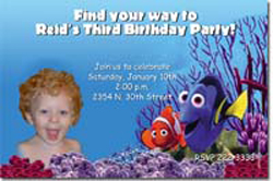 Design online, download jpg immediately DIY finding nemo party birthday Invitations