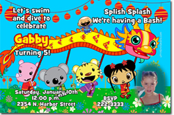 Design online, download jpg immediately DIY ni hao kailan birthday party Invitations