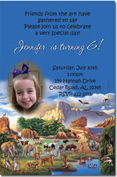 Design online, download jpg immediately DIY noahs ark birthday party Invitations