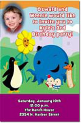 Design online, download jpg immediately DIY oswald party birthday Invitations