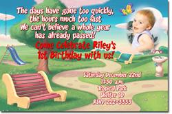 Design online, download jpg immediately DIY park birthday party Invitations
