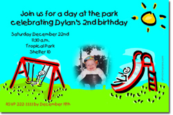 Design online, download jpg immediately DIY park birthday party Invitations