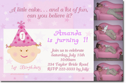Design online, download jpg immediately DIY party girl party birthday Invitations
