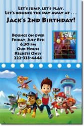Design online, download jpg immediately DIY paw patrol birthday party Invitations