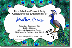 Design online, download jpg immediately DIY peacock party birthday Invitations