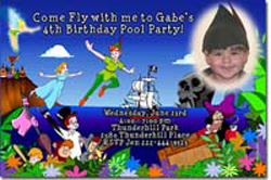 Design online, download jpg immediately DIY peter pan birthday party Invitations