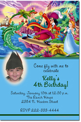 Design online, download jpg immediately DIY peterpan birthday party Invitations