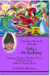 Design online, download jpg immediately DIY peter pan party birthday Invitations