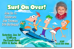 Design online, download jpg immediately DIY phineas and ferb birthday party Invitations