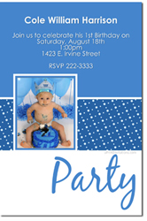 Design online, download jpg immediately DIY birthday photo party Invitation