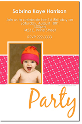 Design online, download jpg immediately DIY Photo birthday party invitations