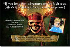 Design online, download jpg immediately DIY pirates of the caribbean birthday party Invitations
