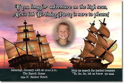 Design online, download jpg immediately DIY pirate birthday party Invitations