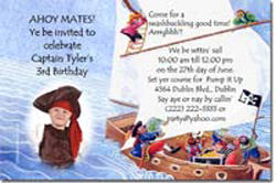 Design online, download jpg immediately DIY pirate ship birthday party Invitations