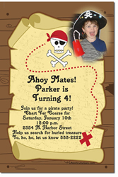 Design online, download jpg immediately DIY pirate x marks the spot birthday party Invitations
