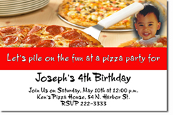 Design online, download jpg immediately DIY pizza slice birthday party Invitations