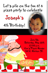 Design online, download jpg immediately DIY pizza birthday party Invitations