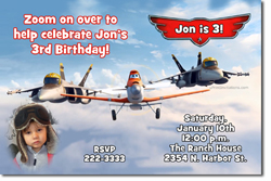 Design online, download jpg immediately DIY planes the movie birthday party Invitations