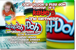 Design online, download jpg immediately DIY playdoh birthday party Invitations