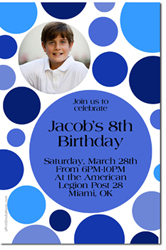Design online, download jpg immediately DIY polka dot birthday party Invitations
