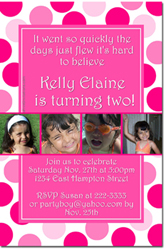 Design online, download jpg immediately DIY polka dots party birthday Invitations