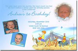 Design online, download jpg immediately DIY winnie the pooh birthday party Invitations