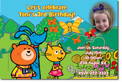 Design online, download jpg immediately DIY poppetstown birthday party Invitations