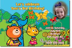 Design online, download jpg immediately DIY poppetstown party birthday Invitations