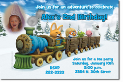 Design online, download jpg immediately DIY pororo birthday party Invitations