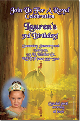 Design online, download jpg immediately DIY princess and the frog party birthday Invitations