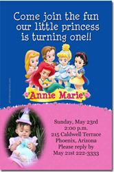 Design online, download jpg immediately DIY princess babies party birthday Invitations