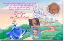 Design online, download jpg immediately DIY cinderella castle party birthday Invitations