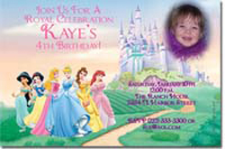 Design online, download jpg immediately DIY disney princess castle party birthday Invitations