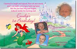 Design online, download jpg immediately DIY ariel little mermaid party birthday Invitations