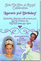 Design online, download jpg immediately DIY princess frog party birthday Invitations